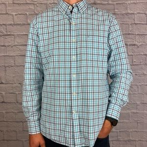 Other - IZOD Long Sleeve Button Down Blue and Navy